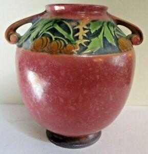 Roseville Baneda 595-8 Vase Pink with Original Foil Label