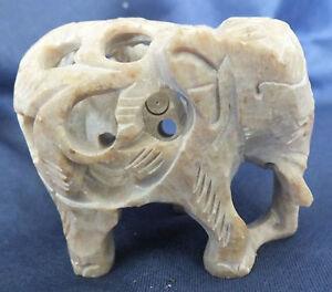 Soapstone tiny elephant 4.4 cms tall