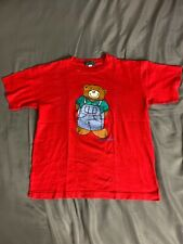 Giordano Red Bear T Shirt Mens Size Small