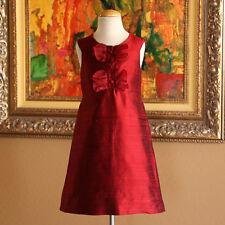 FLORENCE EISEMAN Girls 100% Silk HOLIDAY PARTY Dress HTF RARE Size 7 NWT $125.00