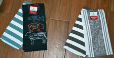 Grand Gourmet Set of 2 Kitchen Dish Towels ~ Grill Master Barbeque OR Prime Cuts
