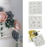 Diy Silicone Chocolate Baking Molds 3D Succulent Plants Flower Shape Cake Moulds