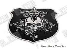 D592 Schädel Skull auto aufkleber 3D Emblem Badge car Sticker dünne Edelstahl