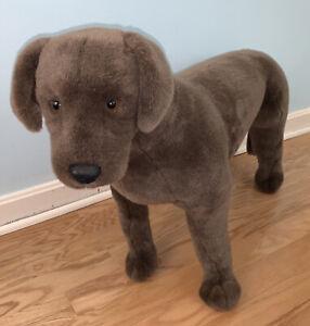"Chocolate Lab Labrador Retriever Brown Giant Realistic 47"" Plush Stuffed Animal"
