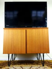 Danish Mid Century Uldum Mobelfabrik Teak TV/Gaming/Media Cabinet Hairpin Legs