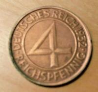 Deutsches Reich Jägernr: 315 1932 A schön Bronze 1932 4 Reichspfennig