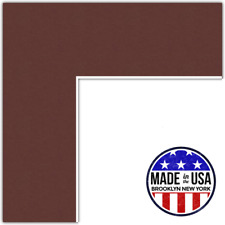 ArtToFrames Custom Red Maroon Picture Photo Frame Mat Matting Board