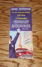 1952 Chevrolet Genuine Accessories Sales Brochure 52 Chevy