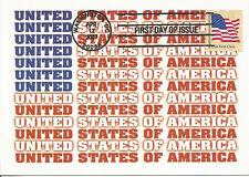 U.S. Flag:  41 cent First Class 2007 FDC USA Maximum Card