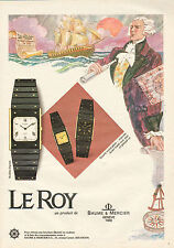 Publicité Advertising 1983  Montre LE ROY de BAUME & MERCIER quartz extra plate