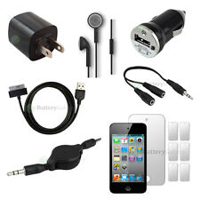 12 pcs Bundle Kit Black USB Cable+Charger+Headset for Apple iPod Touch 4 4th Gen
