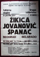 1983 Original Culture Event Poster ŽIKICA JOVANOVIĆ ŠPANAC Slovenia Folklore