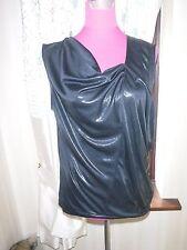 Stunning  All Saints Amelia Foil Top Black Size  8 (10) BNWOT