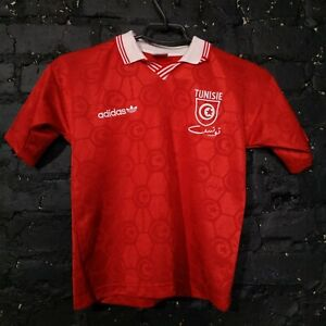 Tunisia Jersey Away football shirt 1992 - 1994 Adidas Red Color SIze Young L