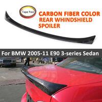 FOR BMW 3 SERIES E90 2005-2012 REAR TRUNK BOOT LIP SPOILER CARBON FIBRE
