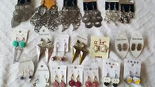 Joblot 60 Pairs Mixed design metal Fashion Dangly Earrings - NEW Wholesale 2