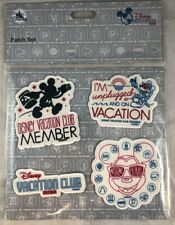 Disney Parks Vacation Club Member Patch Set of 4 Mickey Mouse Resorts DVC - NEW