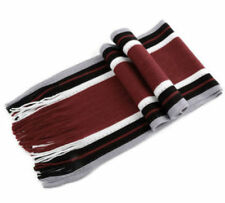 Sale Mens Winter Warm Classic Red Back White Striped Tassle Scarf Wrap Gift