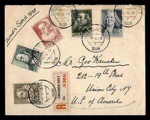 DR WHO 1938 NETHERLANDS IJMUIDENOOST REGISTERED TO USA  g01982