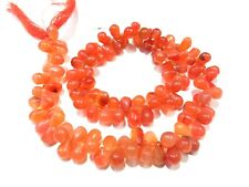 100 Pieces Natural Carnelian Teardrop 5x8-6x9mm Drops Gemstone Beads