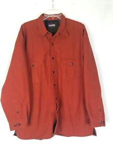 Wolverine men XL jacket plaid fleece lined