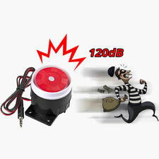 1Pc Wired Mini Horn Siren Home Security Sound Alarm System 120dB DC 12V Hot