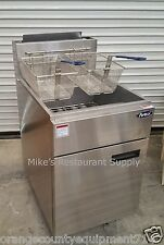New 50 Lb Gas Fryer Stainless Steel Atosa Atfs-50 #2553 Commercial Deep Nsf Fat