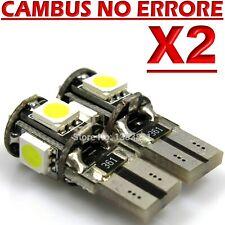 2 LED T10 5 SMD No Errore BIANCO Xenon CANBUS Lampadine Per Targa Posizione W5W