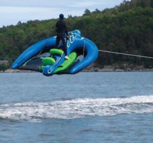 Sevylor Extreme Manta Ray Flying Inflatable Towable Tube Great Condition