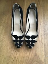 Christian Louboutin Moira Black Mesh Suede Pumps Shoes Size 40 UK US 7 10
