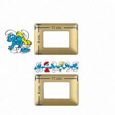 Adesivi Murali decoro interruttori luce puffi sticker light switch 2 pz