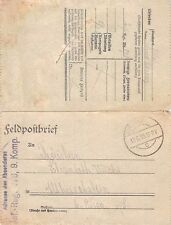 Feldpostbrief Infanterie Regiment 178. 9. Komp. gel. 1918