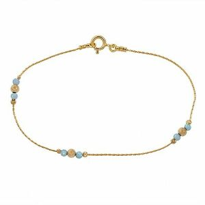 Opal Anklet Beach Gold Filled 14k Anklet Bracelet Blue Opal Women Fashion