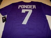 CHRISTIAN PONDER Minnesota Vikings 7 Nike NFL Football JERSEY T-Shirt New NWT XL