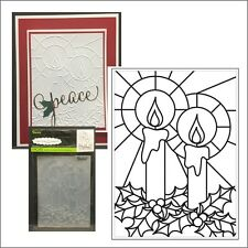 Christmas Mosaic Candle embossing folder by Darice embossing folders 8388