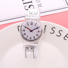 Women Student Watch Jelly Color Transparent Quartz Refinement Wristwatches Gifts