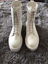 White Platform Goth/punk Boots Size 7