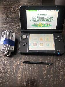 Nintendo 3DS XL Blue/Black Handheld System (SPRSBKA1) With Smatree Travel Case