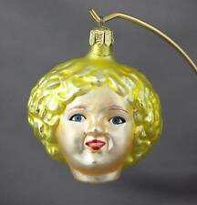 Christopher Radko Shirley 1991 Blonde Miss Temple 91-015-0 Face Ornament Glass