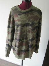 Polo Ralph Lauren Camouflage Knitted Crewneck Sweater Small Cotton