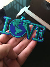 Love World Blue Earth Patch DIY Applique Embroidered Iron on Sewing DIY Craft