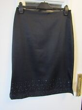 Black New Look skirt - Beaded lower front - size 14