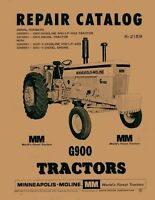 Minneapolis Moline G900 G-900 Parts Manual Catalog 2159