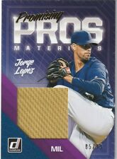 2018 Donruss  JORGE LOPEZ  Promising Pros Materials RC SP JSY  85/99  Milwaukee