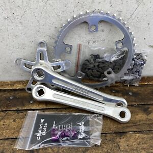 Super Maxy Crank Set Old School BMX Forged Single Fixie Purple Bolts 42t