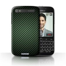 STUFF4 Phone Case/cover for Blackberry Classic/q20 /carbon Fibre Effect/pattern Green