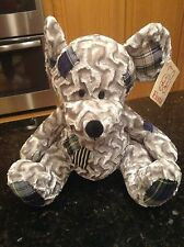Fiesta Navy Blue Patch Gray Grey Mouse Rat Plush Stuffed Animal Soft NWT