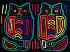 Kuna Indian Hand-Stitched Hoot Owl Bird MoIa II-Panama 18041616L