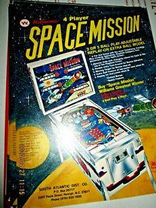 SPACE MISSION Pinball Machine Flyer