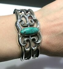 Carolyn Pollack Fritz American West Turquoise Cuff Bangle in Sterling Silver